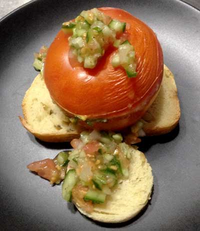 Stuffed grilled tomato